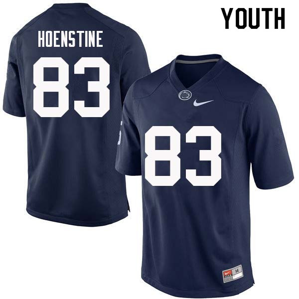 Youth #83 Alex Hoenstine Penn State Nittany Lions College Football Jerseys Sale-Navy